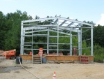 Metal frame Backwash Pump Station7-16-12.jpg