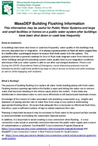 Icon of MassDEP Building Flushing Info