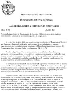 Icon of D P U  21-50 Notice Of Inquiry And Request For Comments (Spanish)